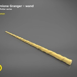 STL files Hermione Granger wand - Harry Potter films 3D print model, 3D-mon