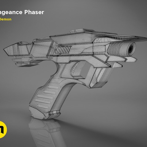 Vengeance-mesh.338.jpg Download OBJ file Vengeance Phaser -Star Trek • 3D printer object, 3D-mon