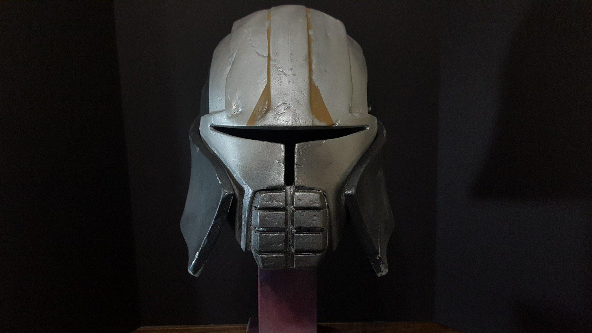 hemlet starkiler.jpg Download OBJ file Star Wars Starkiller helmet • 3D printer template, 3D-mon