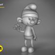 Download STL Smurf - 3D PRINT MODEL, 3D-mon