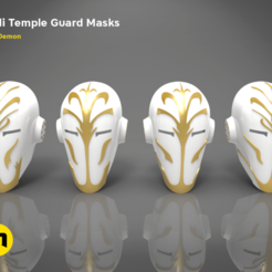 JEDI-MASK-Keyshot.1368.png Download OBJ file 4 Jedi Temple Guard Masks • 3D print design, 3D-mon