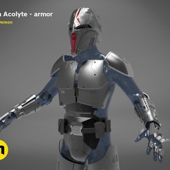 render_scene_sith-armor-color.18.jpg Download STL file Sith Acolyte - armor • 3D print object, 3D-mon
