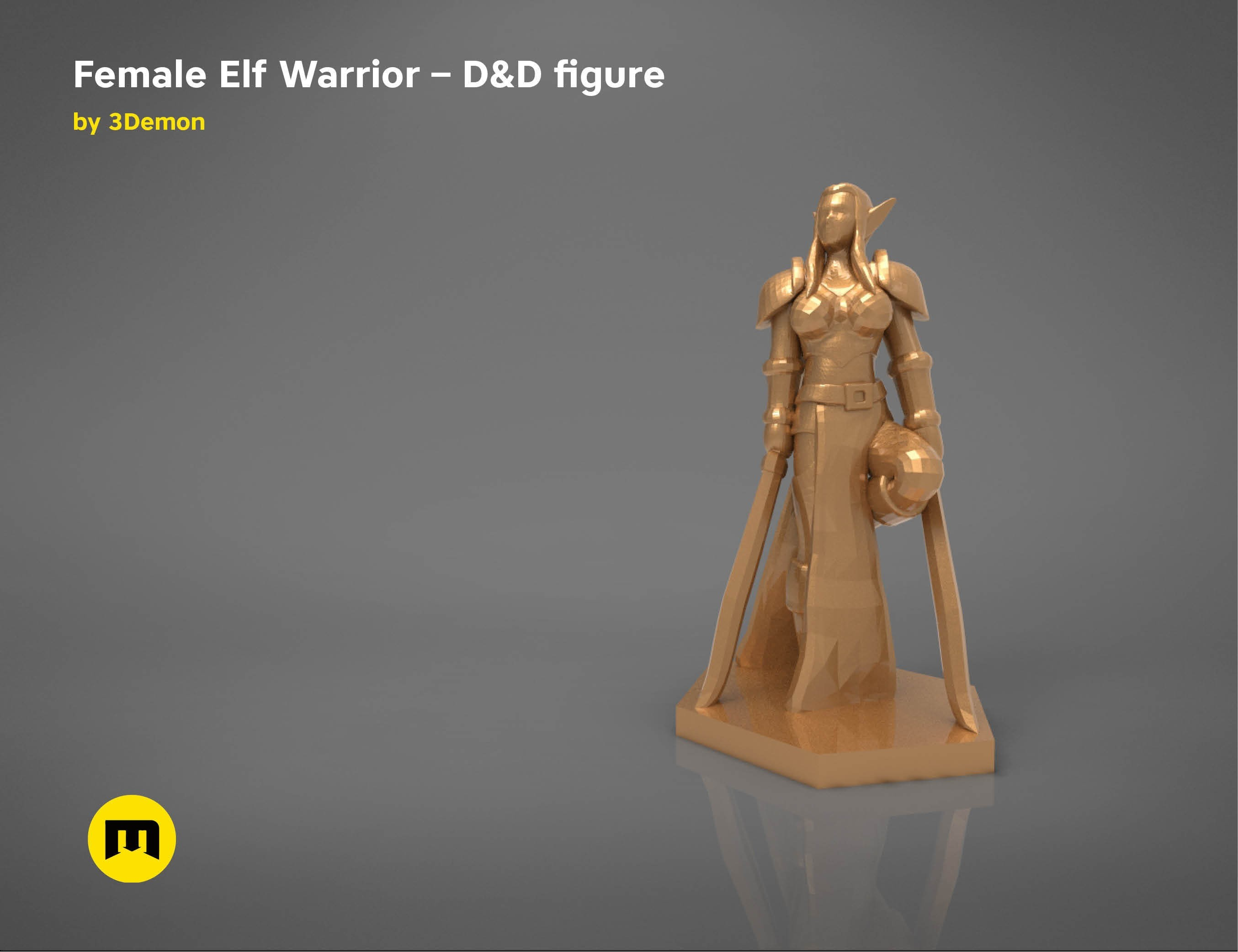 characters5.jpg Download STL file ELF WARRIOR FEMALE CHARACTER GAME FIGURE 3D print model • 3D printing object, 3D-mon