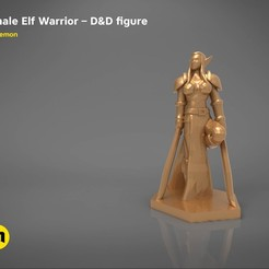 3D print model ELF WARRIOR FEMALE CHARACTER GAME FIGURE 3D print model, 3D-mon