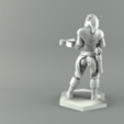 Imprimir en 3D ELF RANGER HEMBRA CARACTER JUEGO FIGURAS Modelo de impresión 3D, 3D-mon