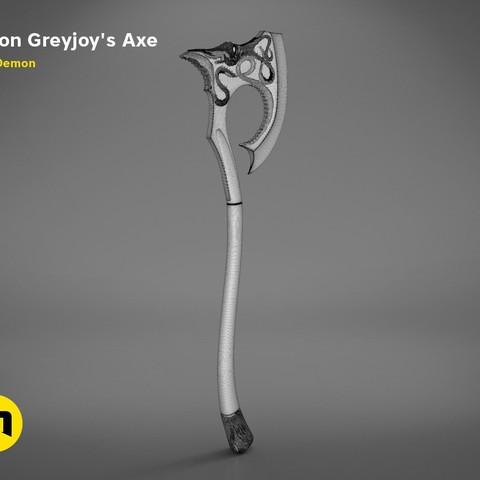 axe-gameofthrones-mesh.984.jpg Download OBJ file Euron Greyjoy's Axe • 3D printable object, 3D-mon