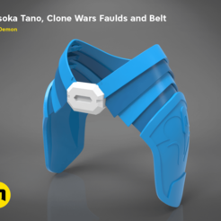render_scene_new_2019-details-top.386.png Download OBJ file Ahsoka Tano, Clone Wars Faulds and Belt • 3D printing template, 3D-mon
