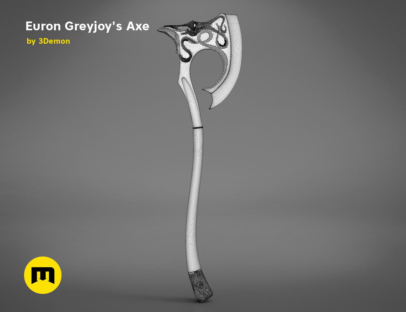 axe-gameofthrones-mesh.982.jpg Download OBJ file Euron Greyjoy's Axe • 3D printable object, 3D-mon