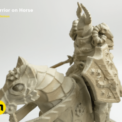 Download 3D printer designs Warrior on horse - kit for 3D printing 3D print model, 3D-mon