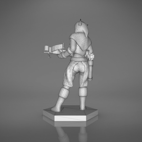 female_ranger-back_perspective.554.jpg Download STL file ELF RANGER FEMALE CHARACTER GAME FIGURES 3D print model • 3D printing object, 3D-mon