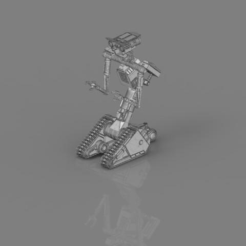 render_scene_gray_background_1300x1000.20.jpg Download STL file Johnny 5 - 3D print model • 3D printable template, 3D-mon