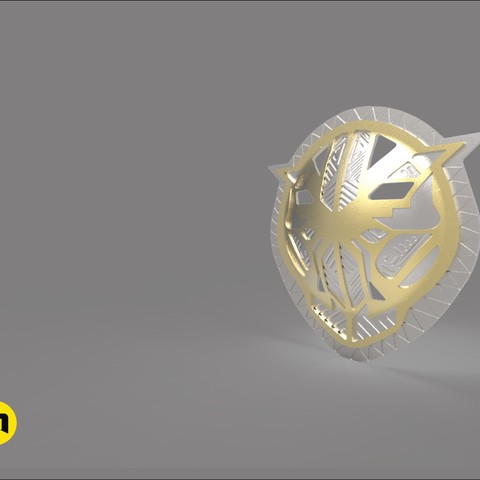 okoye buckle render9.jpg Download STL file Wakanda Okoye buckle general • Template to 3D print, 3D-mon