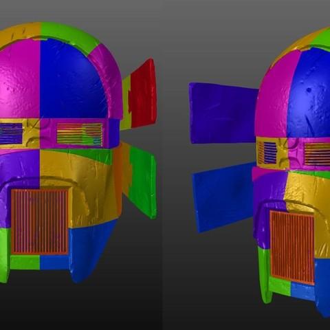 Infographic.jpg Download OBJ file Sniper - Knights of Ren Helmet (damaged), 3D print model • 3D printer object, 3D-mon