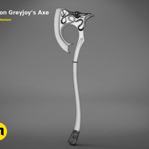 axe-gameofthrones-mesh.jpg Download OBJ file Euron Greyjoy's Axe • 3D printable object, 3D-mon