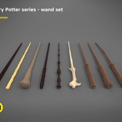 3D printing model Harry Potter wand set - Harry Potter films 3D print model, 3D-mon