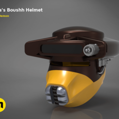 Download STL Leia's Boushh Helmet, 3D-mon