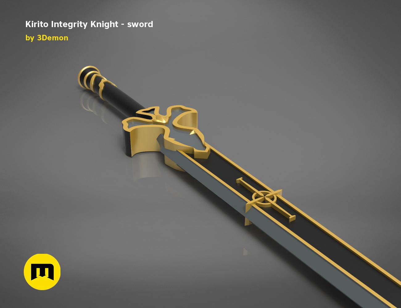 render_scene_Integrity-knight-sword.13 kopie.jpg Download STL file Kirito's Sword - Integrity Knight • 3D print model, 3D-mon
