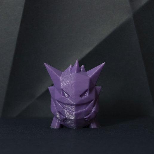 pokemonDSC_0707rew.jpg Télécharger fichier STL gratuit Gengar Low-poly Pokemon • Modèle pour impression 3D, 3D-mon