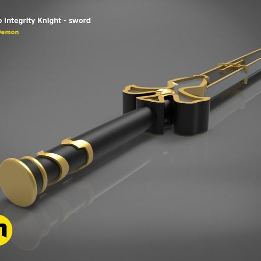 render_scene_Integrity-knight-sword.3 kopie.jpg Download STL file Kirito's Sword - Integrity Knight • 3D print model, 3D-mon