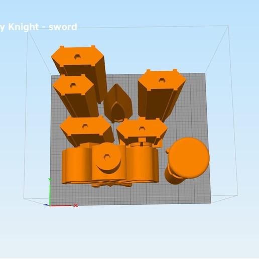 Kirito-sword-parts2 kopie.jpg Download STL file Kirito's Sword - Integrity Knight • 3D print model, 3D-mon