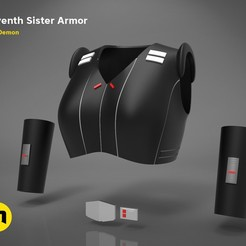 Download 3D printing templates Seventh Sister Armor - Star Wars, 3D-mon