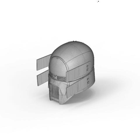 render_scene-isometric_parts.101.png Download OBJ file Sniper - Knights of Ren Helmet mask, Star Wars 3D print model • 3D printable model, 3D-mon