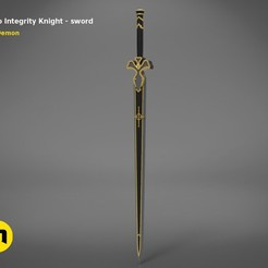 render_scene_Integrity-knight-sword.10 kopie.jpg Download STL file Kirito's Sword - Integrity Knight • 3D print model, 3D-mon