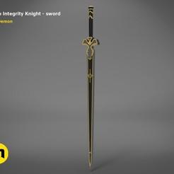 render_scene_Integrity-knight-sword.10 kopie.jpg Télécharger fichier STL L'épée de Kirito - Chevalier de l'intégrité • Modèle pour impression 3D, 3D-mon