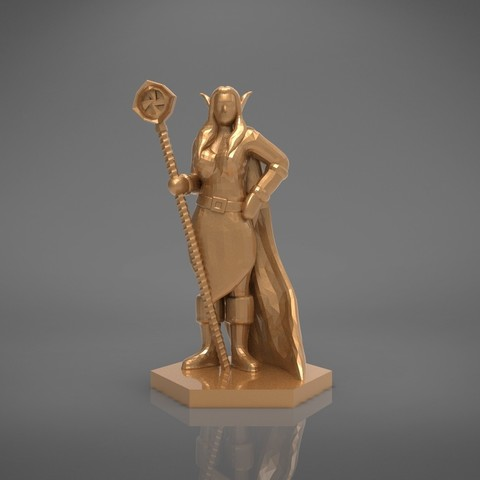 Mage_2_-front_perspective.163.jpg Download STL file ELF MAGE FEMALE CHARACTER GAME FIGURES 3D print model • 3D printing template, 3D-mon