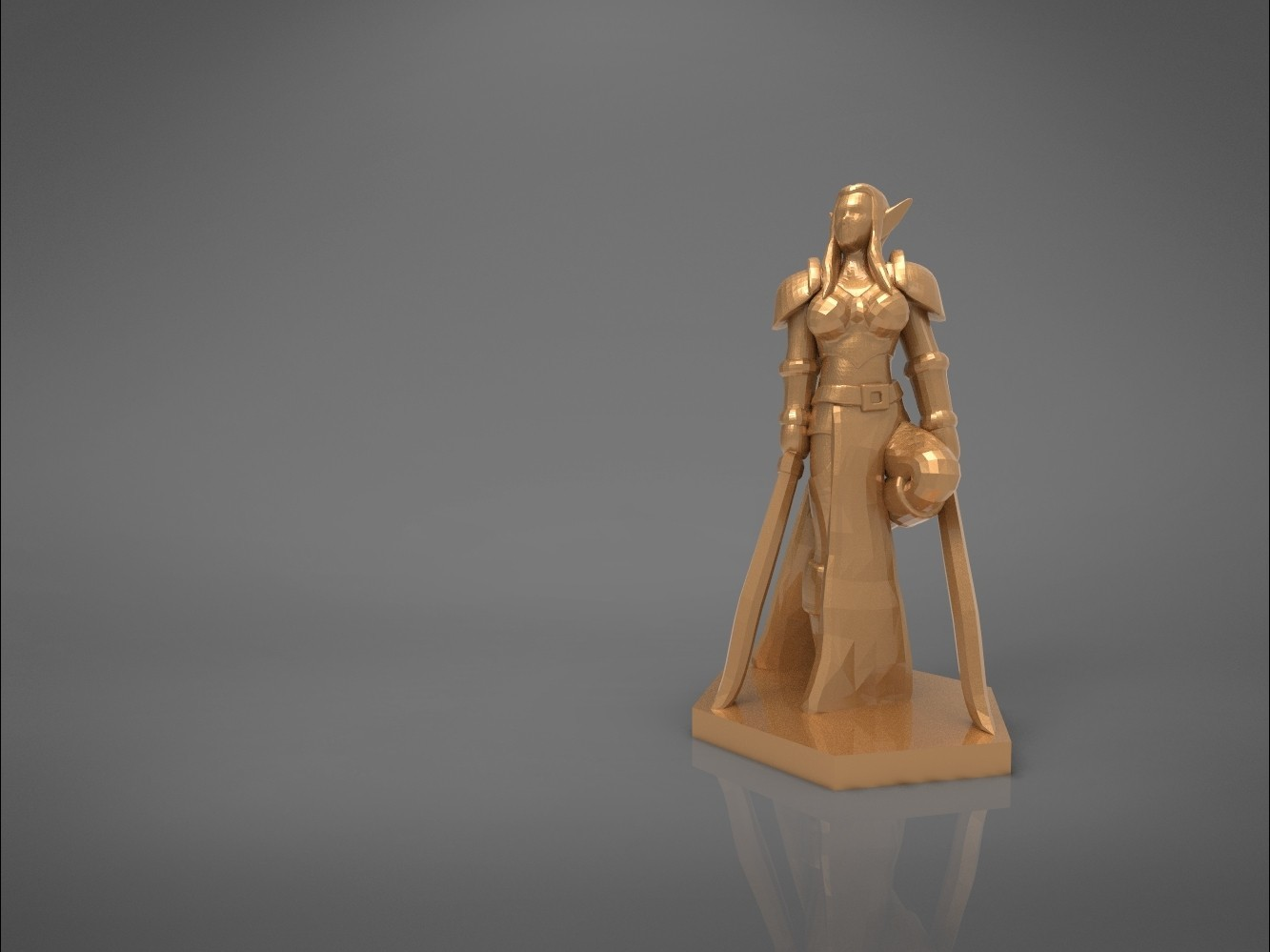 Warrior_2-main_render.325.jpg Download STL file ELF WARRIOR FEMALE CHARACTER GAME FIGURE 3D print model • 3D printing object, 3D-mon