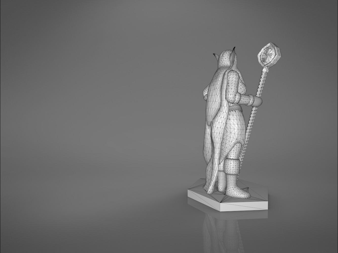 Mage_2_-main_render_2.181.jpg Download STL file ELF MAGE FEMALE CHARACTER GAME FIGURES 3D print model • 3D printing template, 3D-mon