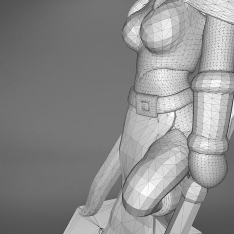 Warrior_2-detail_4.349.jpg Download STL file ELF WARRIOR FEMALE CHARACTER GAME FIGURE 3D print model • 3D printing object, 3D-mon