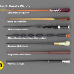 Download 3D printer designs Wand Set from Fantastic Beasts, 3D-mon