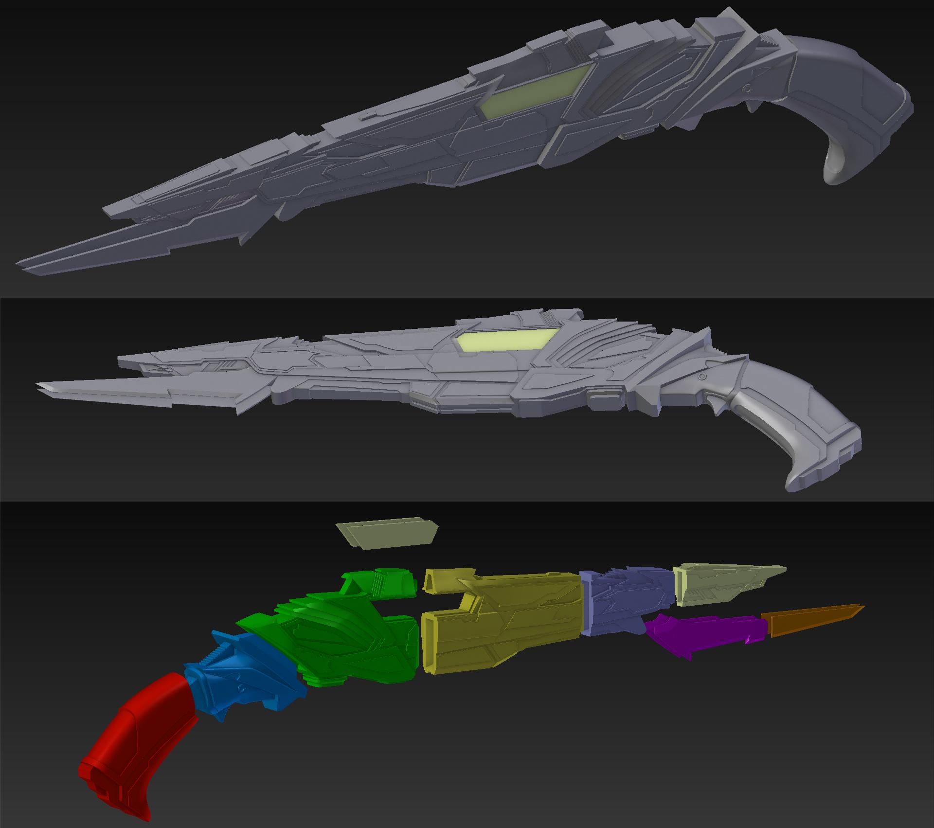 Final.jpg Download STL file Klingon rifle • Model to 3D print, 3D-mon