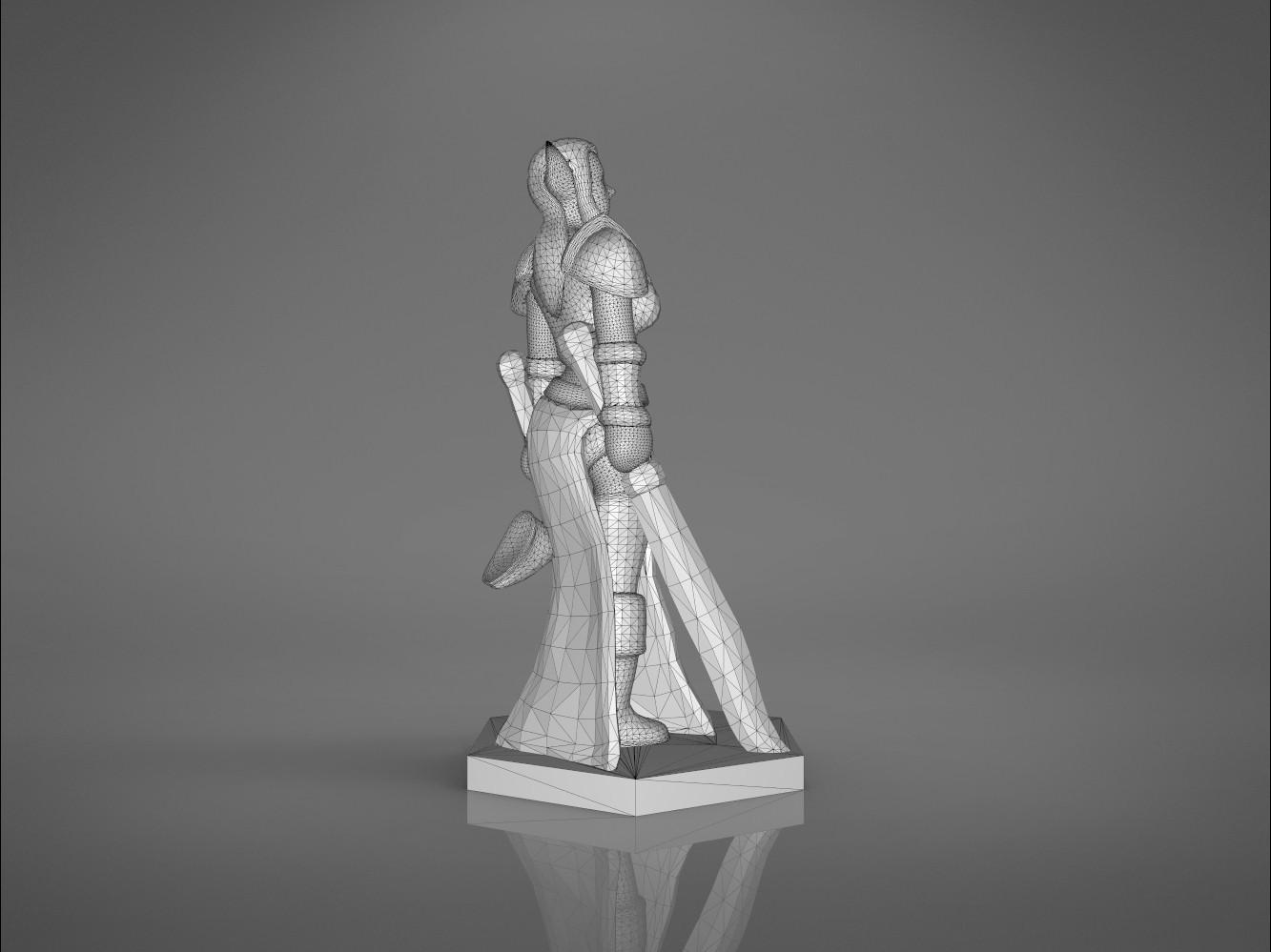 Warrior_2-left_perspective.333.jpg Download STL file ELF WARRIOR FEMALE CHARACTER GAME FIGURE 3D print model • 3D printing object, 3D-mon