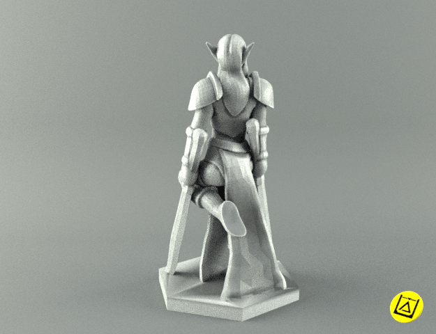 2warrior2.png Download STL file ELF WARRIOR FEMALE CHARACTER GAME FIGURE 3D print model • 3D printing object, 3D-mon