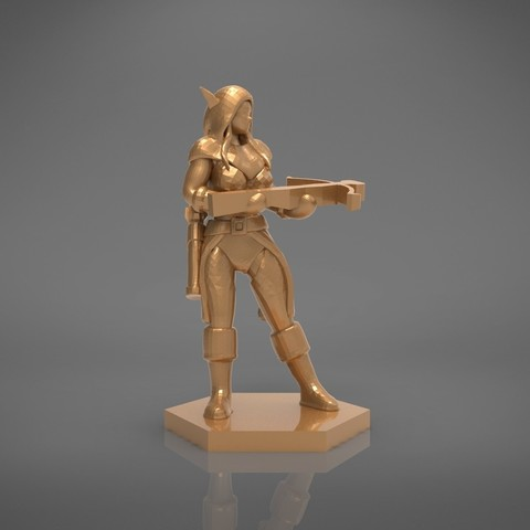 female_ranger-front_perspective.530.jpg Download STL file ELF RANGER FEMALE CHARACTER GAME FIGURES 3D print model • 3D printing object, 3D-mon
