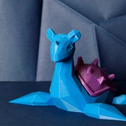 pokemon-low-poly049.JPG Download STL file Lapras Low Poly Pokemon • 3D printing model, 3D-mon