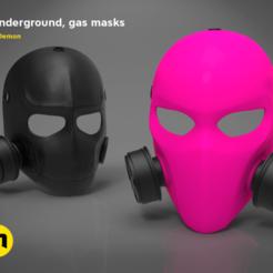 gasmasks_black_pink_black_POZICOVANE_V2-main_render_2.250.png Download STL file Pink Gas Mask - 6 underground • 3D printing object, 3D-mon