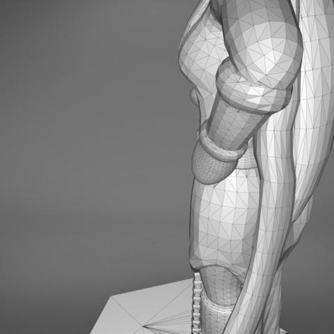 Mage_2_-detail_4.189.jpg Download STL file ELF MAGE FEMALE CHARACTER GAME FIGURES 3D print model • 3D printing template, 3D-mon