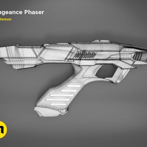 Vengeance-mesh.jpg Download OBJ file Vengeance Phaser -Star Trek • 3D printer object, 3D-mon