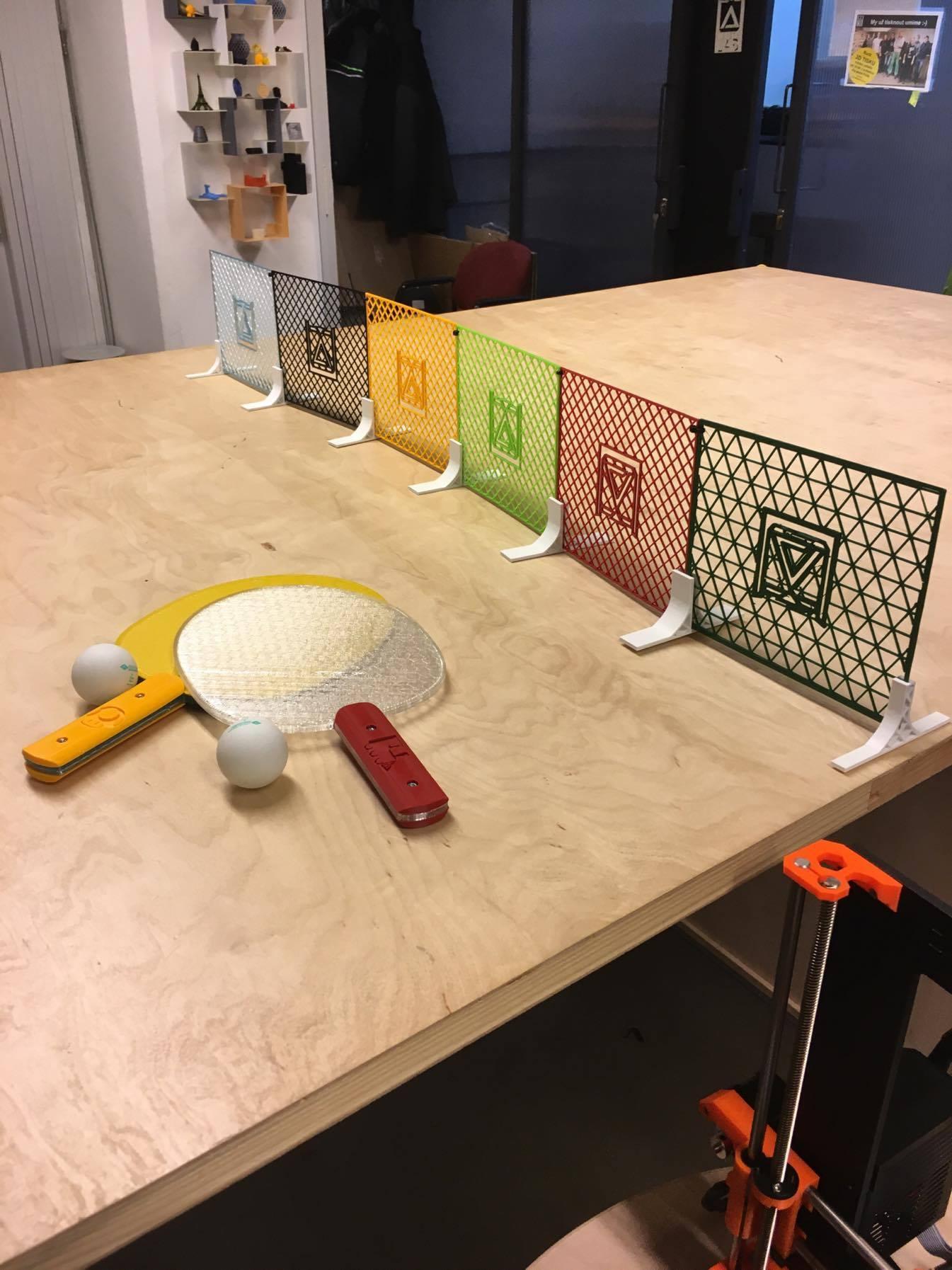 ping pong makerslab 3d print 013.jpg Télécharger fichier STL gratuit Ping Pong tennis de table • Design pour impression 3D, 3D-mon