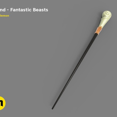 3D printing model Queenie Goldstein's Wand from Fantastic Beasts', 3D-mon