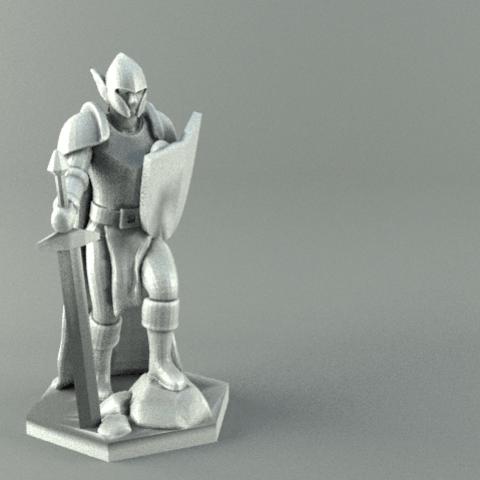 warrior.png Download STL file ELF WARRIOR CHARACTER GAME FIGURE 3D print model • Object to 3D print, 3D-mon