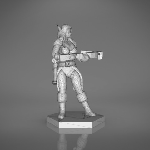 female_ranger-front_perspective.556.jpg Download STL file ELF RANGER FEMALE CHARACTER GAME FIGURES 3D print model • 3D printing object, 3D-mon