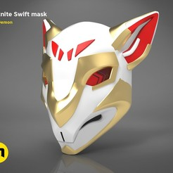 swift-mask-render-scene-color.01.jpg Download STL file Fortnite Swift mask • 3D print model, 3D-mon