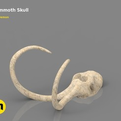STL file Mammoth Skull and Ring, 3D-mon