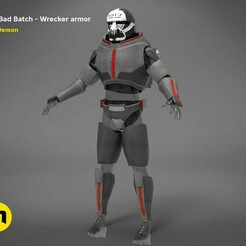 Bad_Batch_Wrecker-render_scene.101.jpg Download STL file The Bad Batch Wrecker armor • 3D print template, 3D-mon