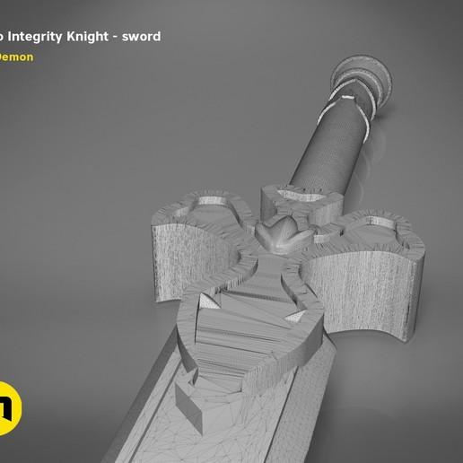 render_scene_Integrity-knight-sword-mesh.21 kopie.jpg Download STL file Kirito's Sword - Integrity Knight • 3D print model, 3D-mon