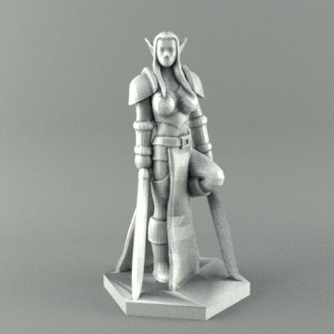 warrior2.png Download STL file ELF WARRIOR FEMALE CHARACTER GAME FIGURE 3D print model • 3D printing object, 3D-mon